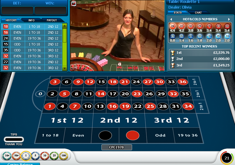 william hill live roulette